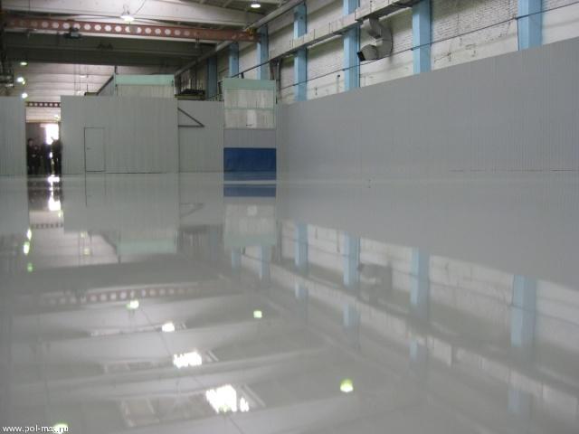 Устройство эпоксидного покрытия с добавлением кварцевого песка, армированного стекломатом